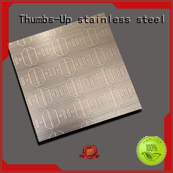 Thumbs-Up 430 engraving ss plate customized for hotel