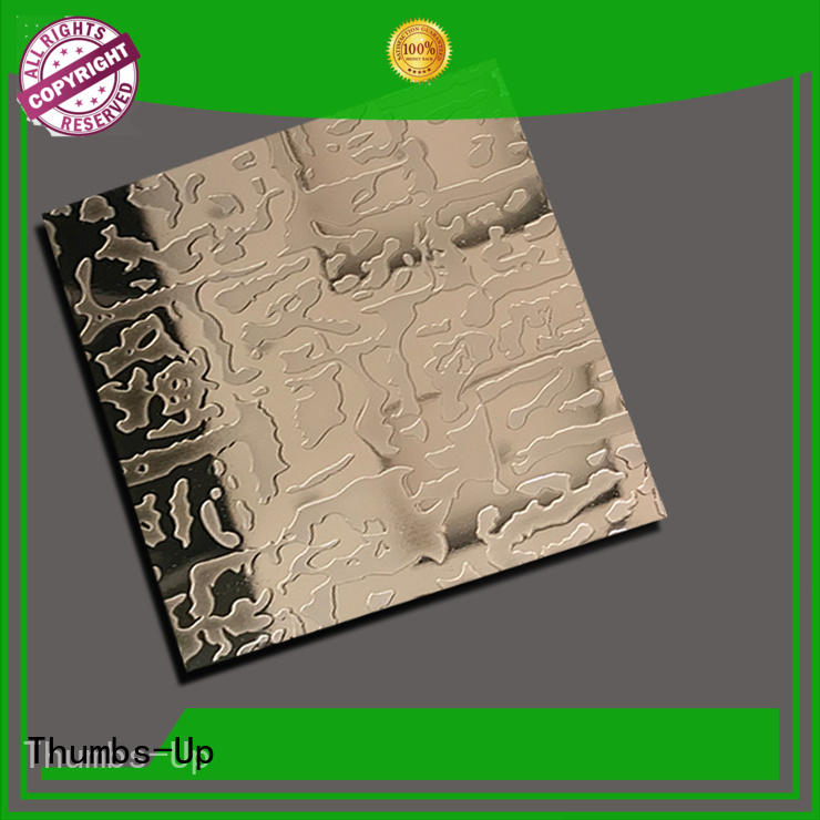 Thumbs-Up cloth chemical etching stainless steel sheet customized for ceiling