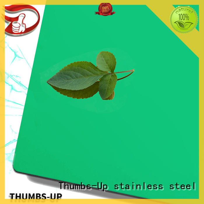 Thumbs-Up embossing polished stainless steel sheet customized for elevator