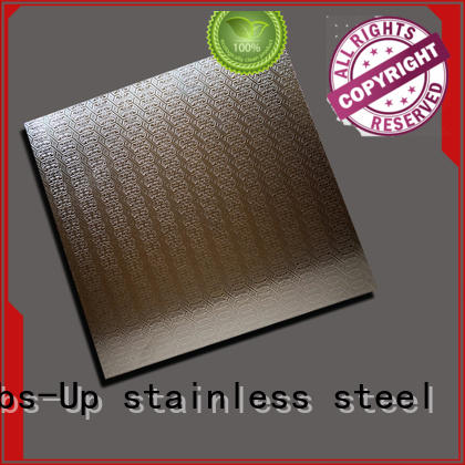 stainless steel chequer plate embossed red stainless steel diamond plate Thumbs-Up Brand