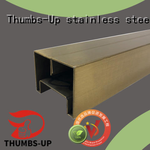 Thumbs-Up golden stainless steel j channel customized for club