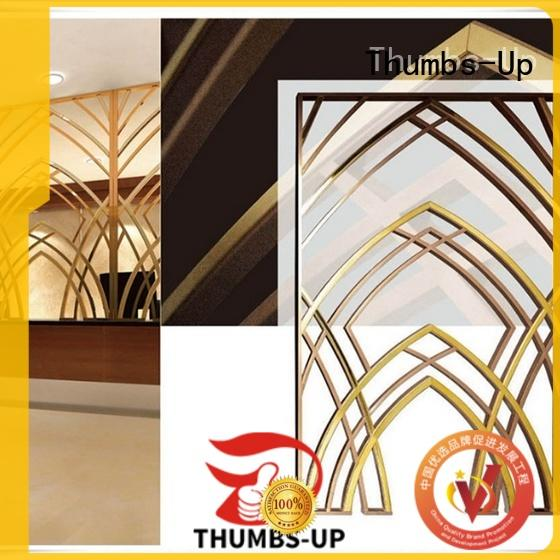 Thumbs-Up black decorative metal screen supplier for store