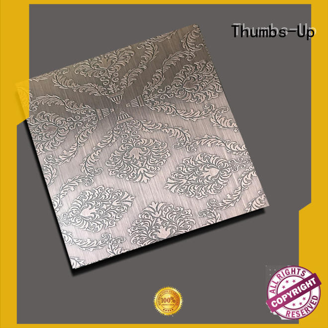 Thumbs-Up copper brushed stainless steel sheet wholesale for lobby