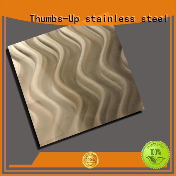 Thumbs-Up drawing thin stainless steel sheet customized for club