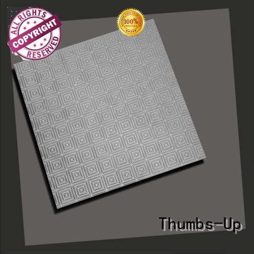 Thumbs-Up cube stainless steel splashback cut to size design for outdoor