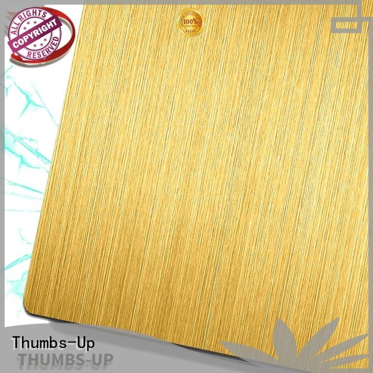 Thumbs-Up nano ground stainless steel plate hairlineblack for cabinet