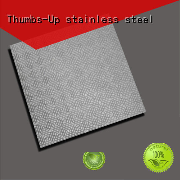 Thumbs-Up pearlescent stainless steel floor plate cloud for elevator