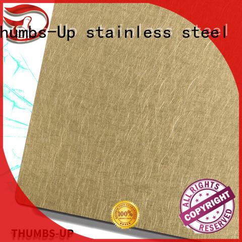 Thumbs-Up roughgraindark brushed steel plate manufacturer for cabinet