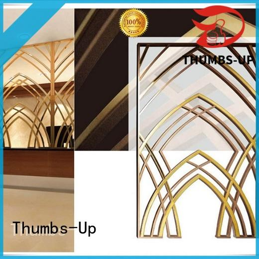 titanium plated copper plated Thumbs-Up Brand stainless steel decorative panels supplier