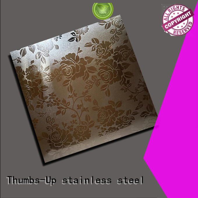 Thumbs-Up embossing stainless steel embossed plate design for building