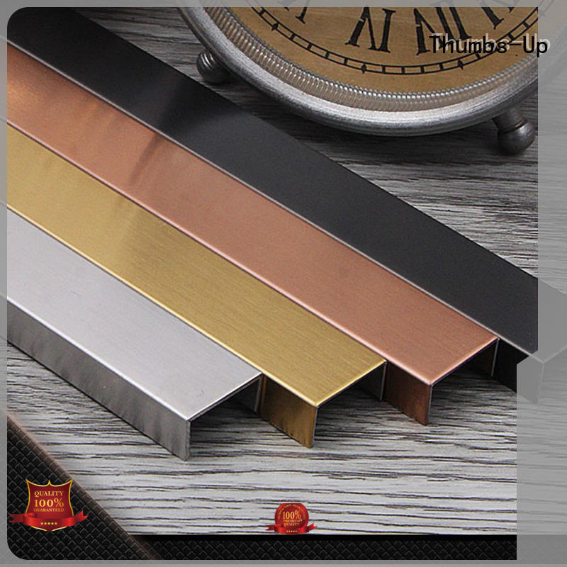 Thumbs-Up golden plat strip stainless steel champagne for house
