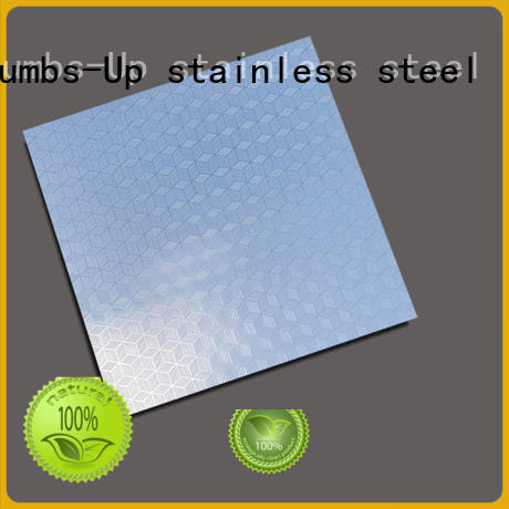 Thumbs-Up corrugated patterned stainless steel customized for building