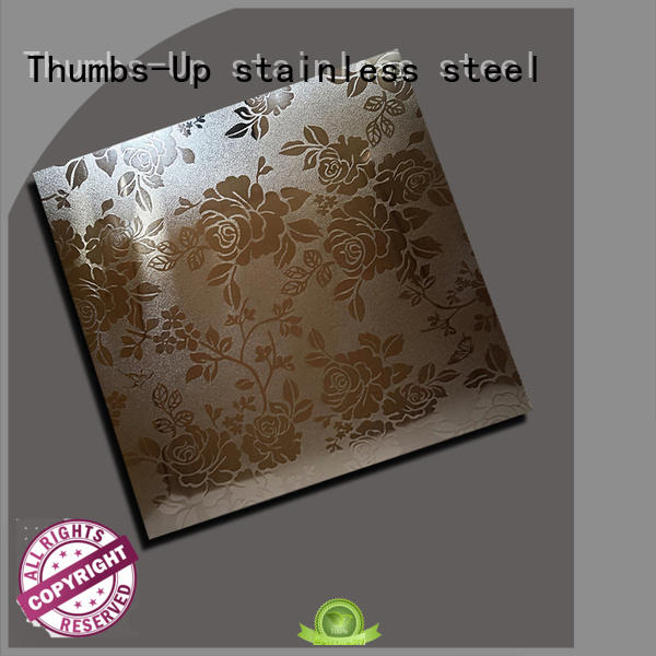 Thumbs-Up peony decorative stainless steel sheet design for signboard
