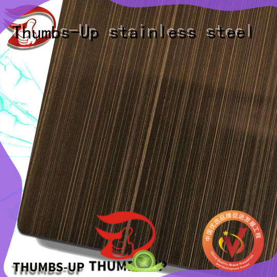Thumbs-Up finishgold stainless steel floor plate suppliers wholesale for hotel