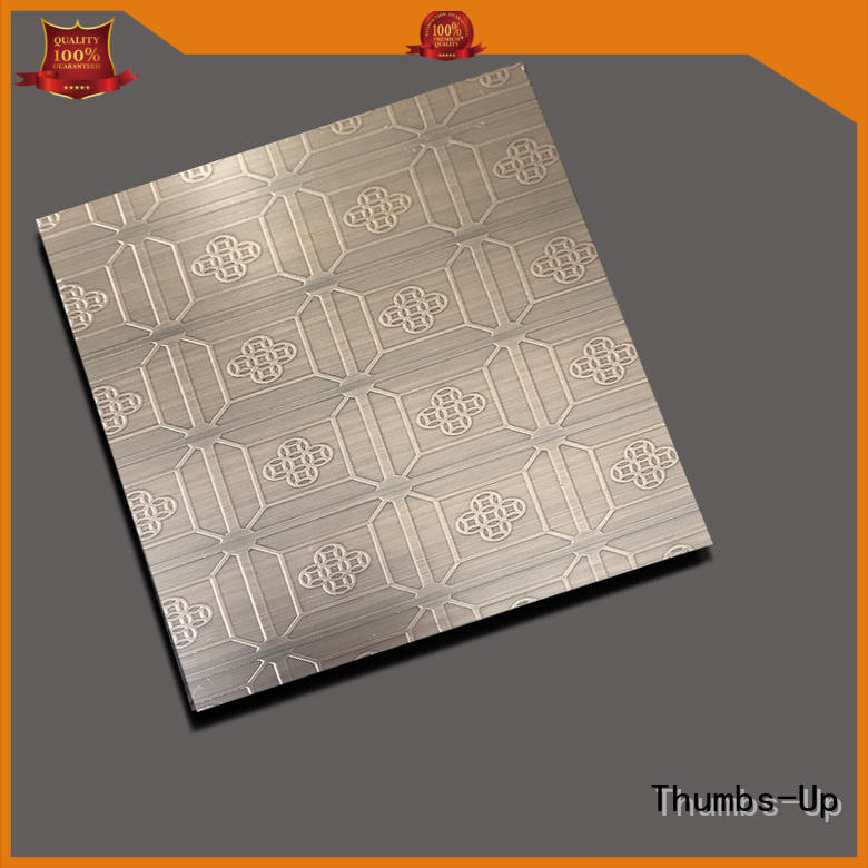 Thumbs-Up ancient stainless steel plate etching rose for ceiling