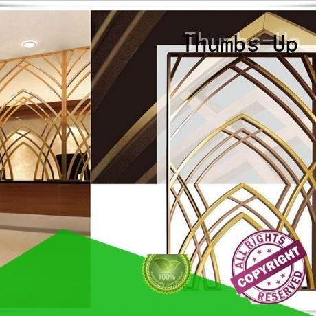 Thumbs-Up gold stainless steel urinal manufacturer for villa
