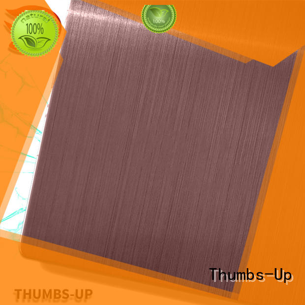 Thumbs-Up hairlineblack 316l stainless steel plate price supplier for ceiling