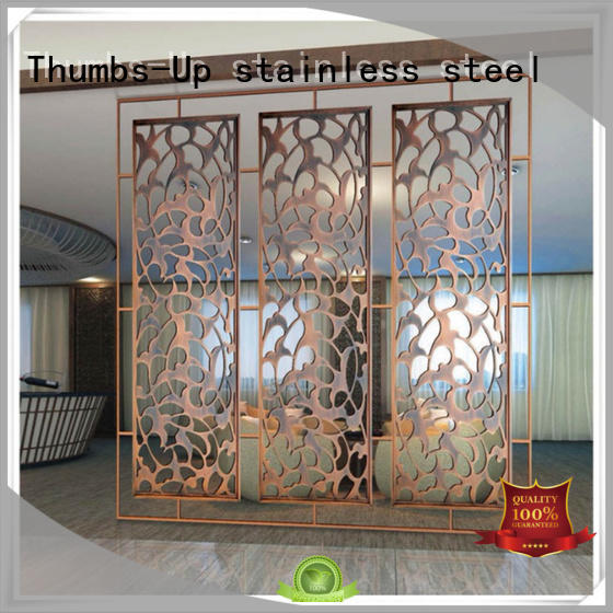 plated laser cut screens customized for living room