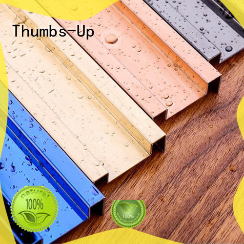 Thumbs-Up arc 304 stainless steel strip supplier for villa