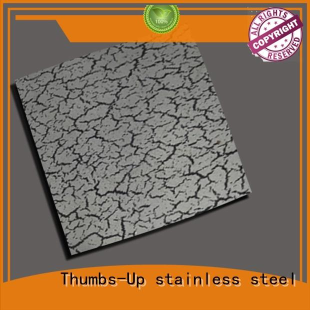 Thumbs-Up crack decorative stainless steel sheet customized for store