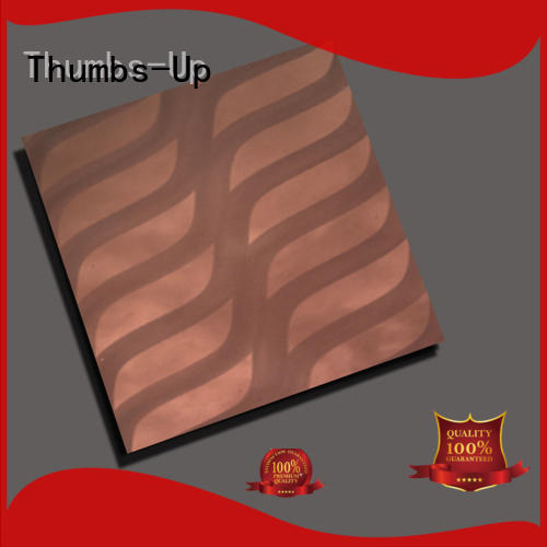 red stainless steel wall panels supplier for villa