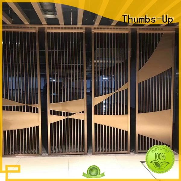 gold decorative metal screen panels supplier for villa Thumbs-Up