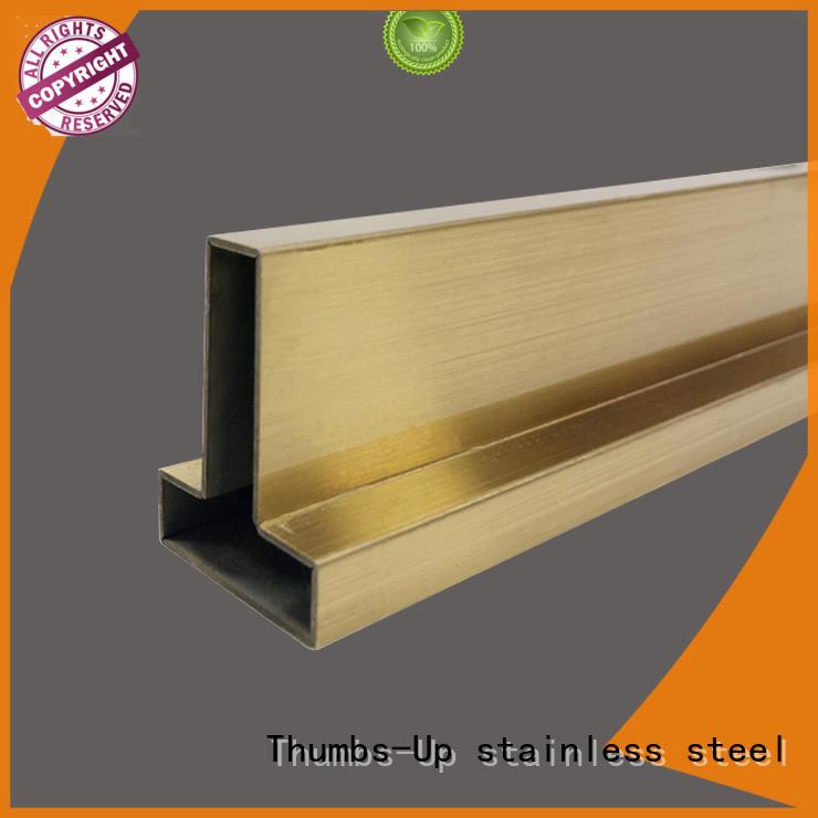 golden stainless steel tile edging titanium factory for villa