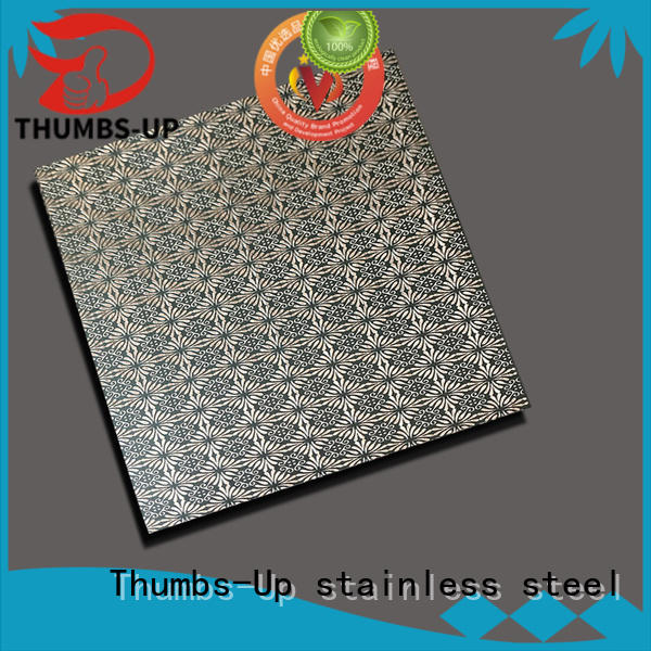 Thumbs-Up 316 etching stainless steel wholesale for lobby