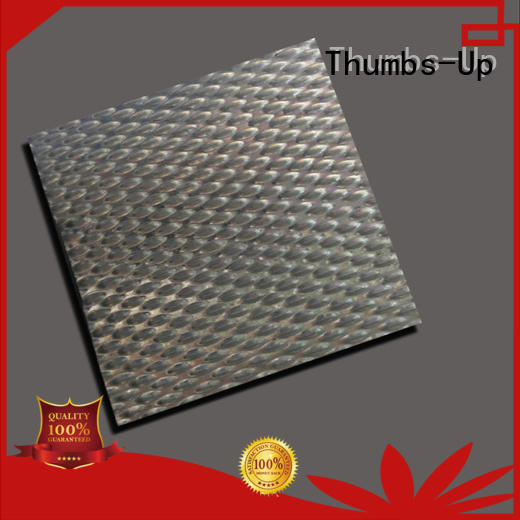 Thumbs-Up plated titanium colored stainless steel sheets design for outdoor
