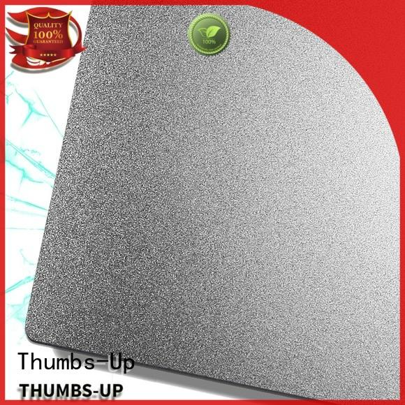 Thumbs-Up hairlinegold 5mm stainless steel plate wholesale for hotel
