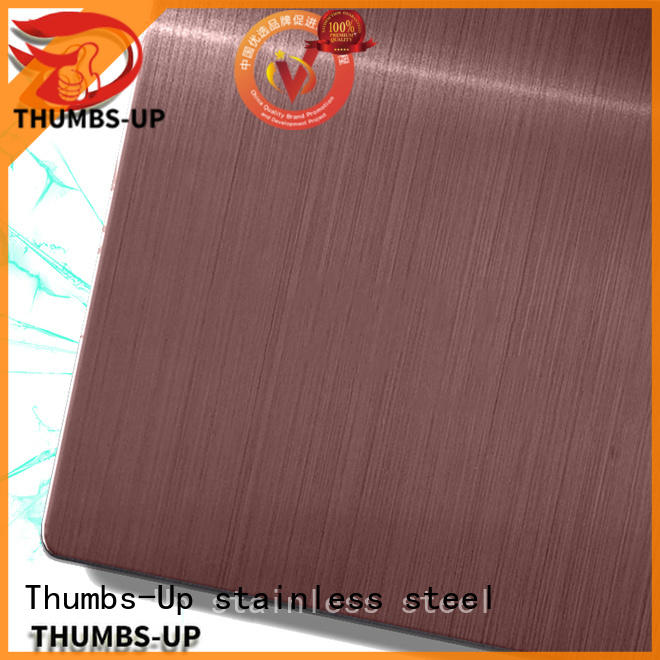 Thumbs-Up decorative purchase stainless steel sheets sandblastingchampagne for ceiling