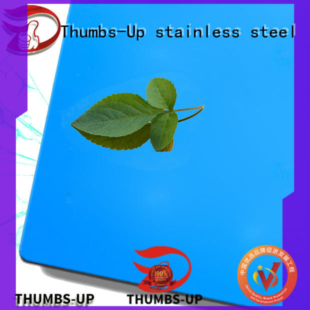 Thumbs-Up sandblasting stainless steel sheet metal customized for building