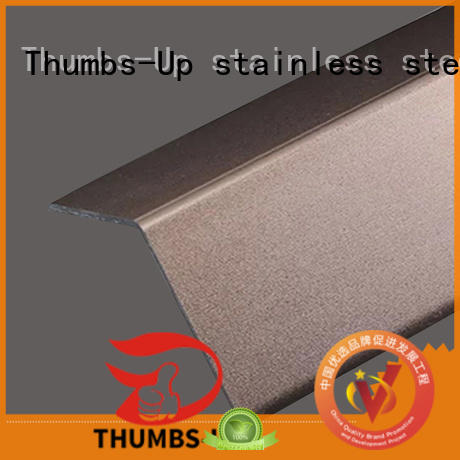 Thumbs-Up wrapping stainless steel backsplash trim brass for house