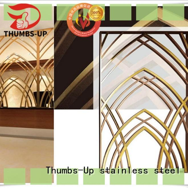 Thumbs-Up vintage partition plates steel customized for hotel