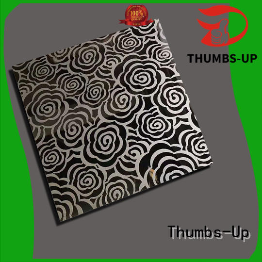 Thumbs-Up Brand lattice back pattern custom stainless steel sheet finishes