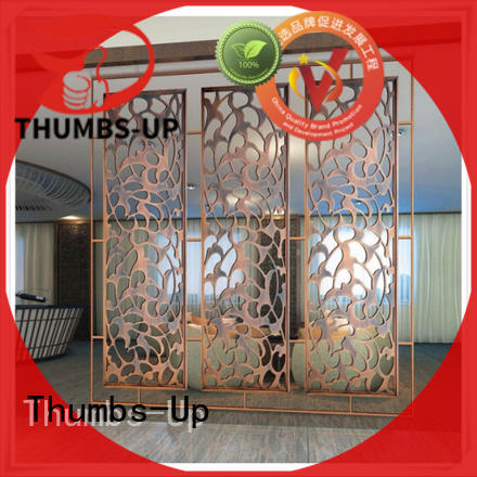 Thumbs-Up tube stainless steel decorative panels supplier for hotel