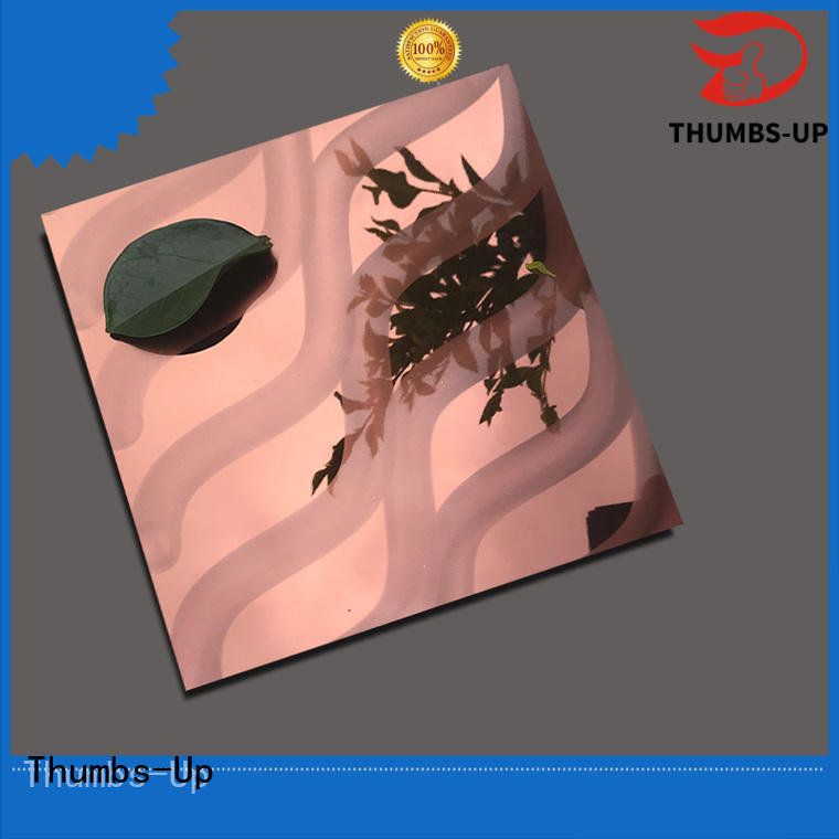 construction gold polished stainless steel sheet laser Thumbs-Up Brand company