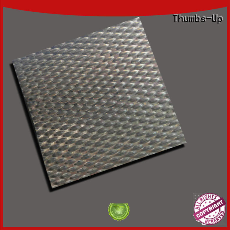 Thumbs-Up plated sheet metal wall customized for elevator