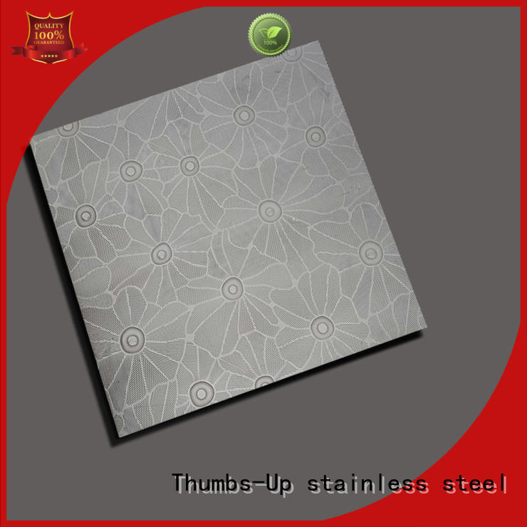 peony large water Thumbs-Up Brand stainless steel diamond plate supplier