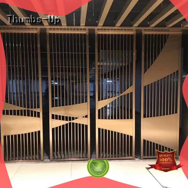 Thumbs-Up tube laser cut decorative screens customized for villa