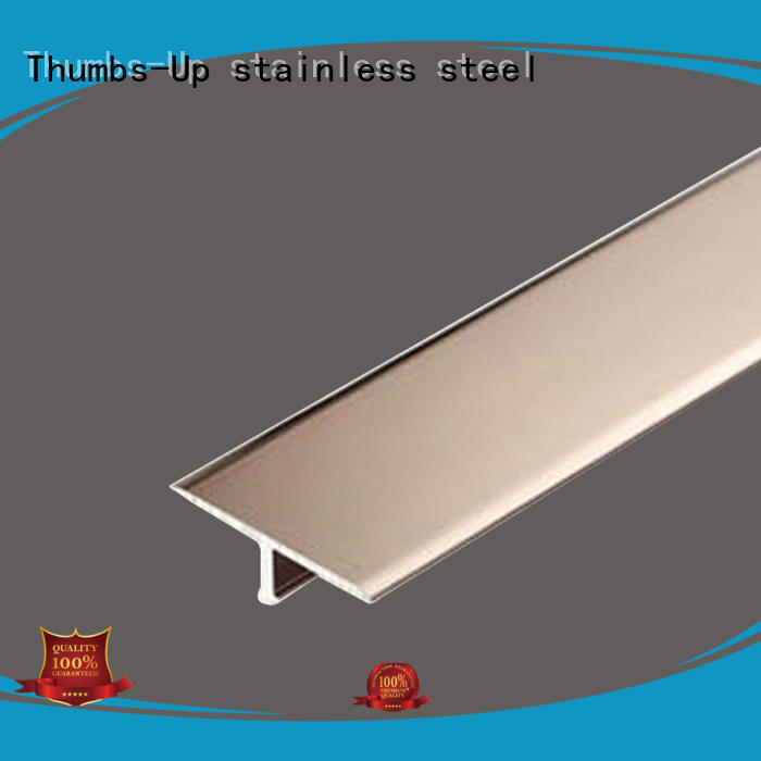 Thumbs-Up arc stainless steel angle trim customized for house