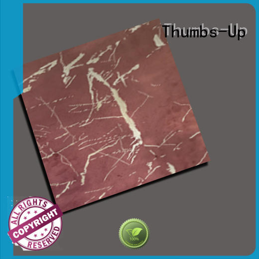 Thumbs-Up sheets stainless steel laminate design for club
