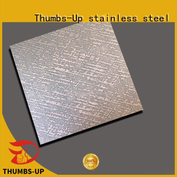money Custom sheets flower etching stainless steel Thumbs-Up sheet
