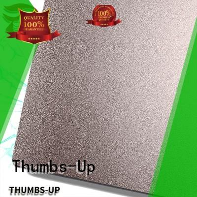 Thumbs-Up sandblastingchampagne 316 stainless steel plate factory for lobby