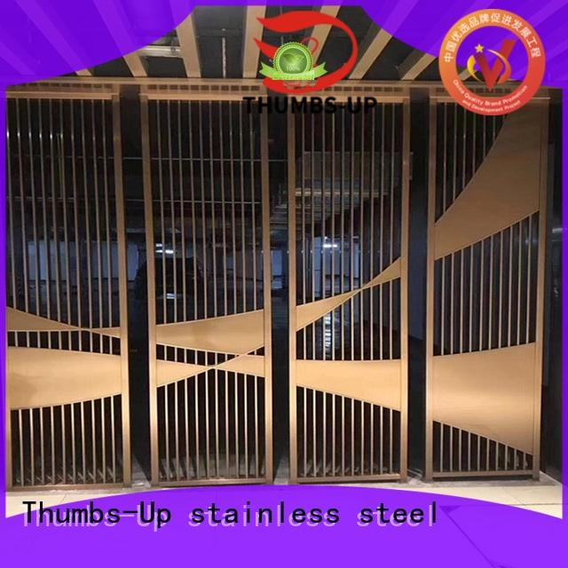 vintage stainless steel partition plates tube factory for living room