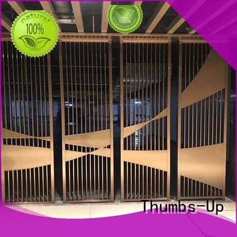 laser plated Thumbs-Up Brand steel privacy screen