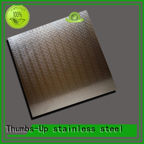 Thumbs-Up pearlescent thin stainless steel sheet customized for elevator