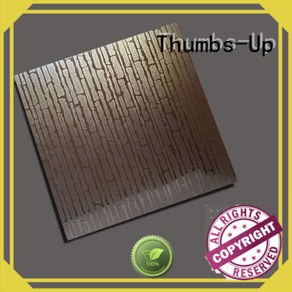 Thumbs-Up rotary embossed metal panels design for signboard