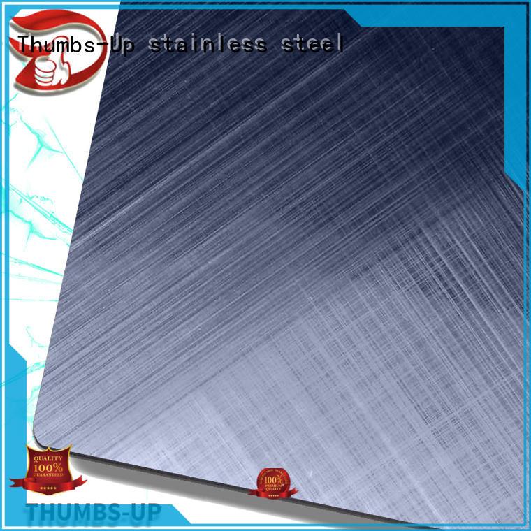 Thumbs-Up sandblastingdark 3mm stainless steel plate wholesale for hotel