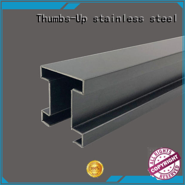 Thumbs-Up trapezoid stainless steel edging strip customized for house